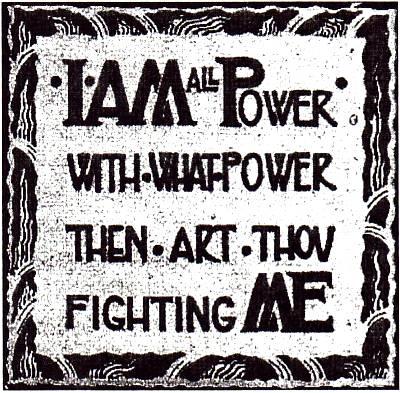 I am all power