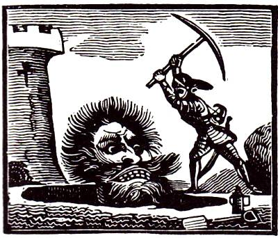 Woodcut illustration from a version of the story published in 1840