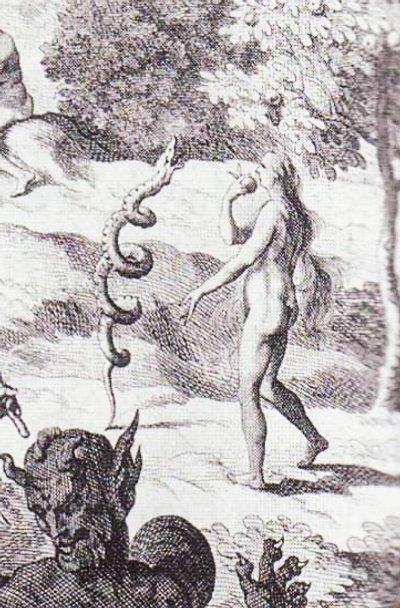 Satan tempts Eve