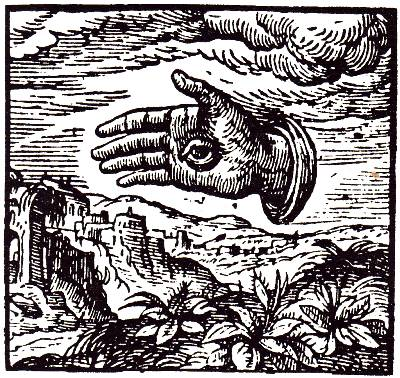 The hand with an eye