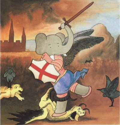 Babar in St. Michael and the Dragon